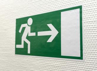 Piktogramm Fluchtweg 08459