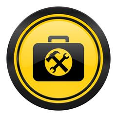 toolkit icon, yellow logo, service sign