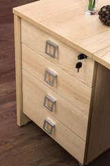 desk cupboard with drawers