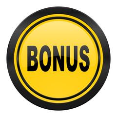 bonus icon, yellow logo,