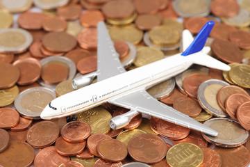 Flugzeug Münzen