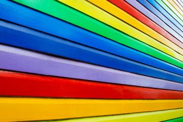 colorful wall like peace flag