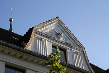 Detail eines Hauses in Bösingfeld