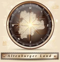 Karte vom Altenburger-Land