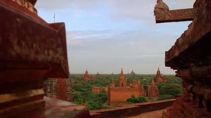 beautiful pagoda on  background of blue sky