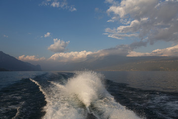 spray from the boat