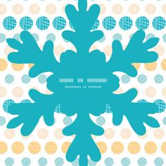 Vector texture circles stripes abstract Christmas snowflake