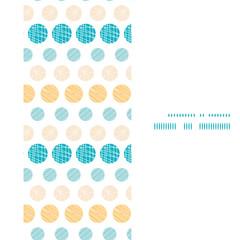 Vector texture circles stripes abstract vertical frame seamless