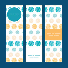 Vector texture circles stripes abstract vertical banners set