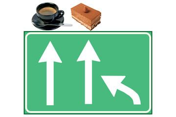 Indicazioni caffè e dolce