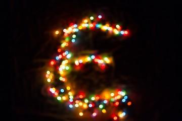 colorful letter E