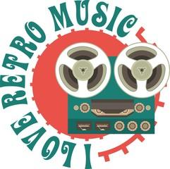 Retro Music Emblem