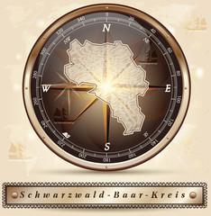 Karte vom Schwarzwald-Baar-Kreis