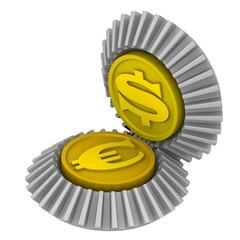 Котировка американского доллара и европейской валюты