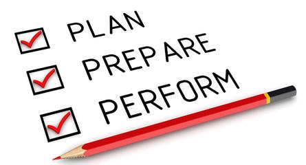 Концепция достижения цели (plan, prepare, perform)