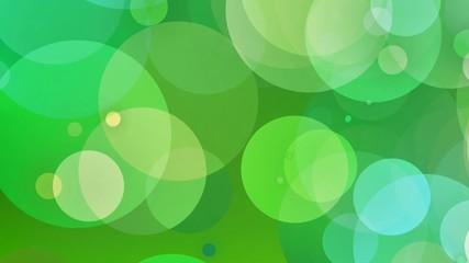 Fond de bulles vertes pétillantes