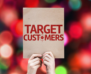 Target Customers card with colorful background