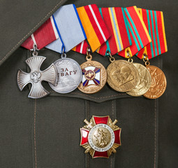Different awards and medals