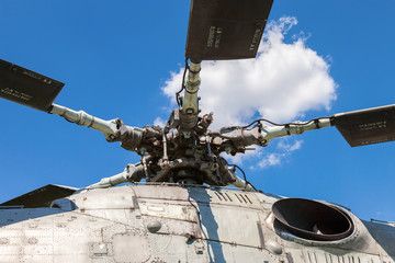 Turbine of heavy transport helicopter