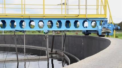 Sewage treatment plant, secondary clarifier (sedimentation tank)