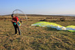 paramotor on Dartmoor
