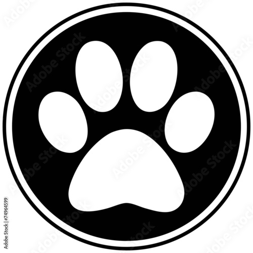 Paw Print Symbol - 74964599