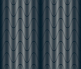 Wavy, waveform lines seamless pattern. (4 tiles on the image)