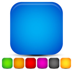 Bright, vivid rounded square backgrounds. 7 colors.