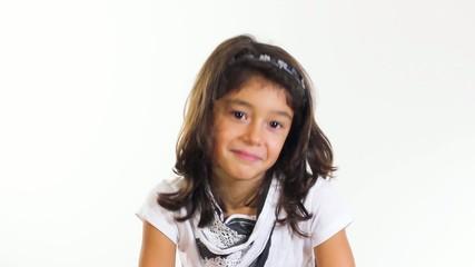 Little girl nods