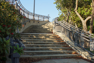 Sidewalk stairs