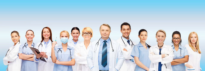 team or group of doctors and nurses