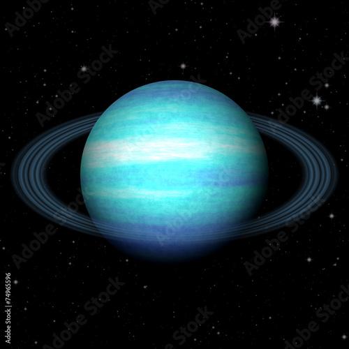 Fototapeta Abstract Uranus planet generated texture background