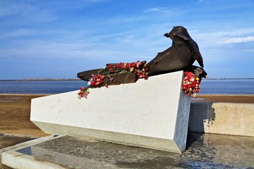Monument to Seal in Arkhangelsk, Russia