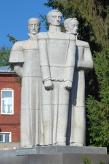 Monument to Decembrists in Yekaterinburg