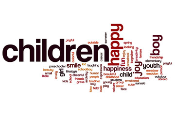 Children word cloud