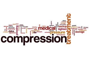 Compression word cloud