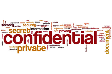 Confidential word cloud