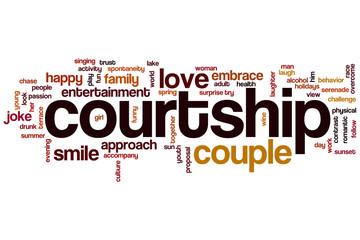 Courtship word cloud
