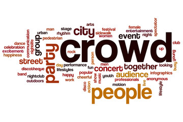 Crowd word cloud