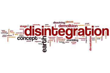 Disintegration word cloud