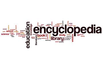 Encyclopedia word cloud
