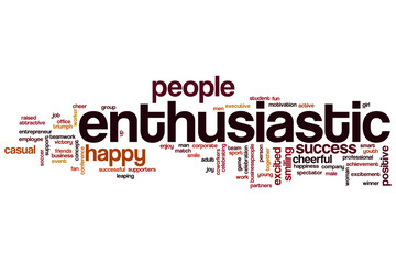 Enthusiastic word cloud
