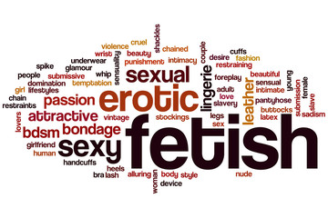 Fetish word cloud