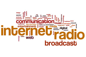 Internet radio word cloud