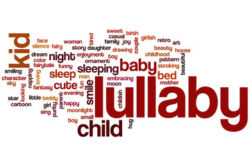 Lullaby word cloud