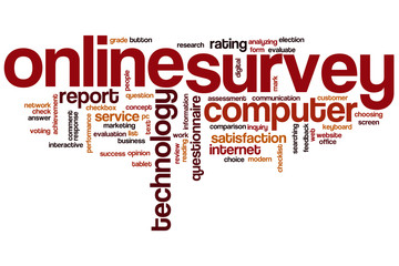 Online survey word cloud