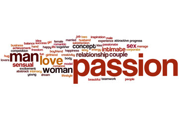 Passion word cloud