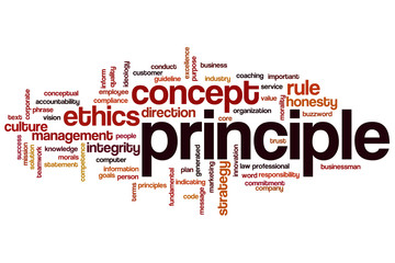 Principle word cloud