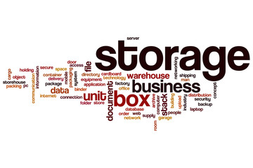 Storage word cloud