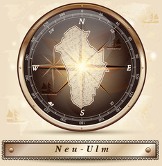 Karte von Neu-Ulm
